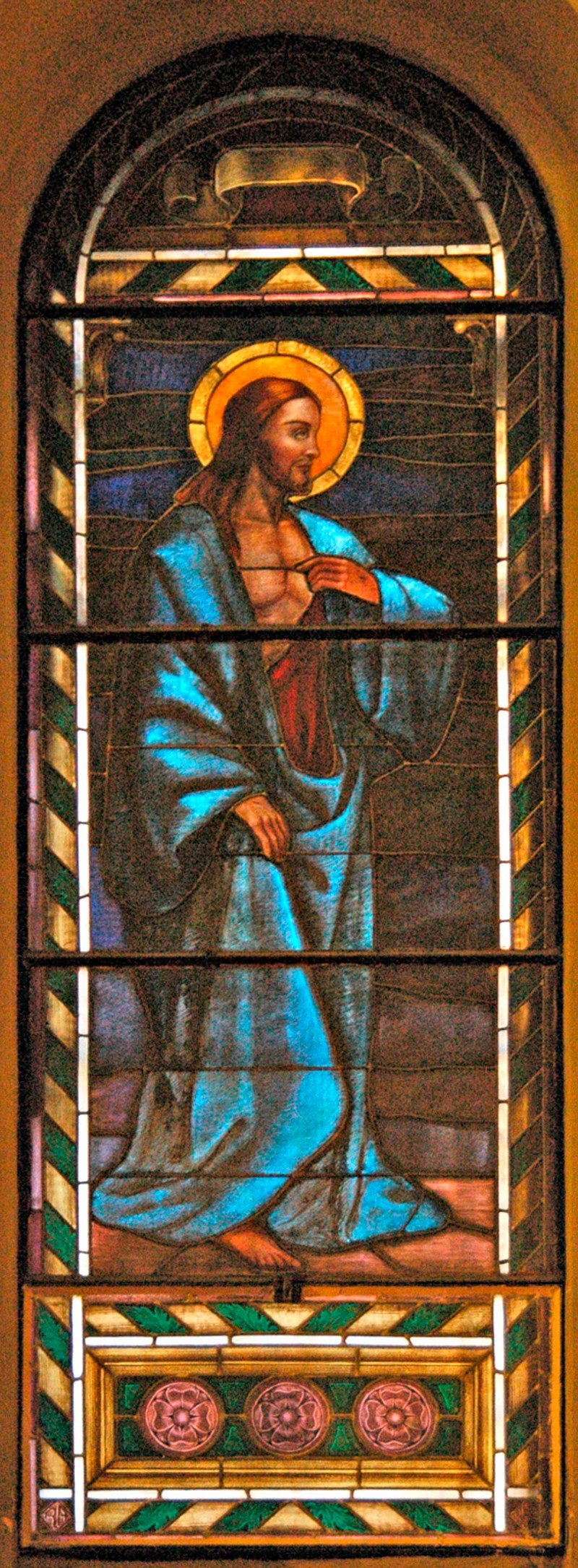 Albertella R. (1950), Gesù mostra la ferita sul costato