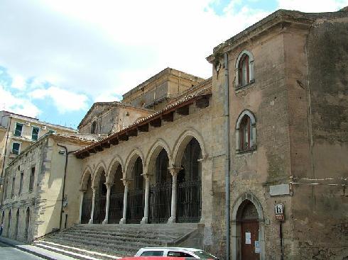 La facciata principale della cattedrale di San  Nicolo' a Nicosia
