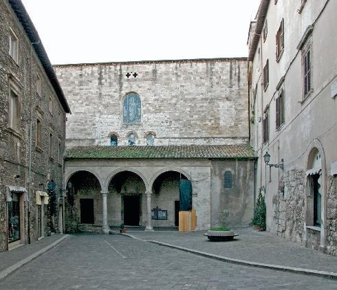 La facciata principale della Chiesa di San Giovenale  a Narni
