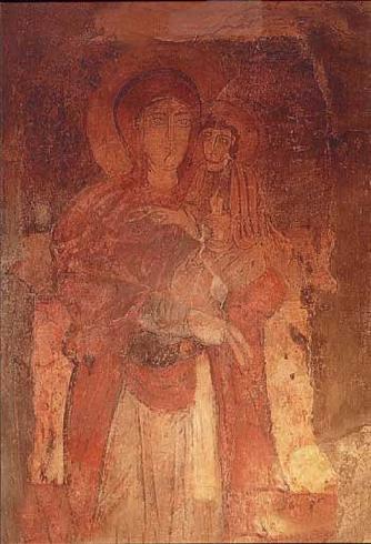 L'icona di Achiropita: Vergine con Bambino in braccio <<non fatta da mano (umana)>>