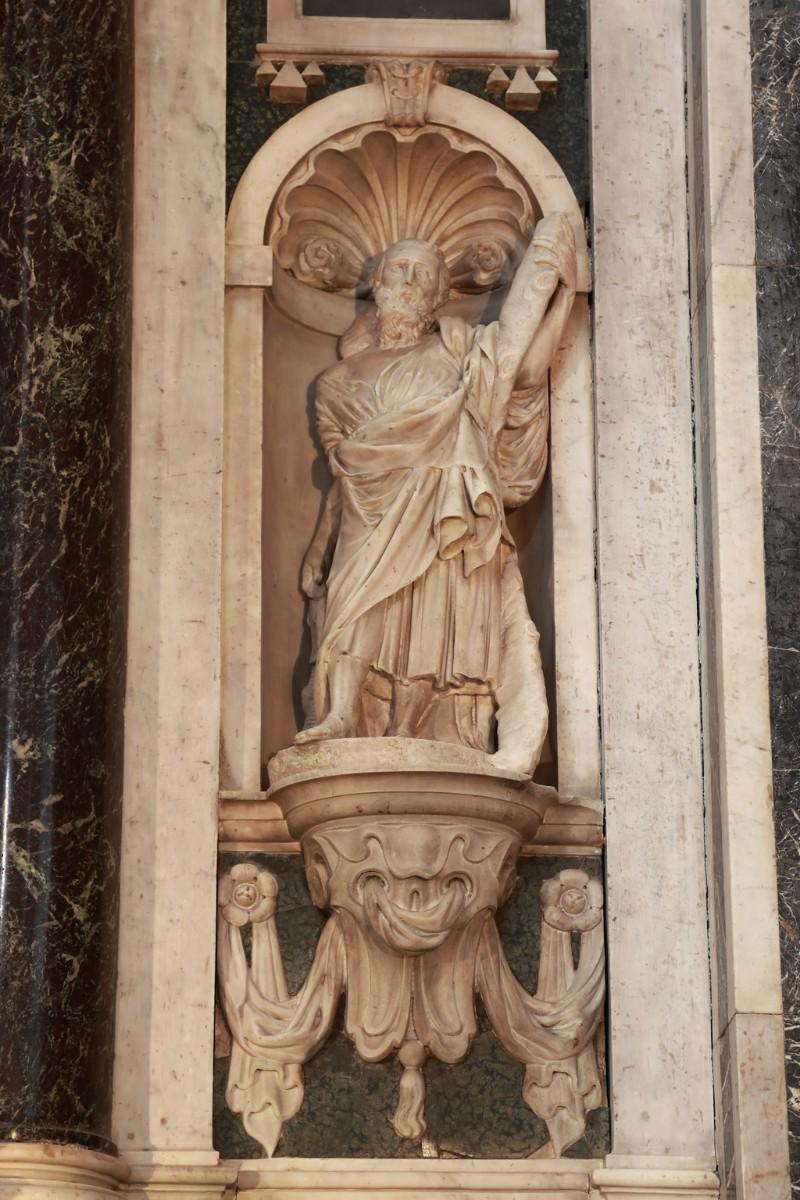 Agnesini F. (1639-1640), Statua marmorea di Sant'Andrea