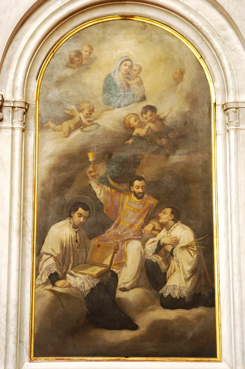 Aldi A. (1900 circa), Madonna con Gesù Bambino e santi martiri anauniesi