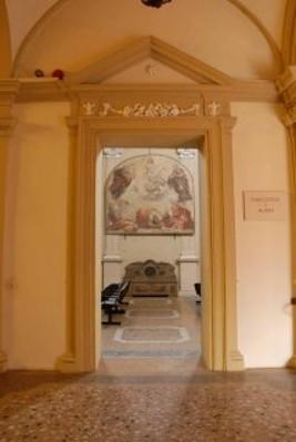 Ingresso al museo dallo scalone Morelliano.