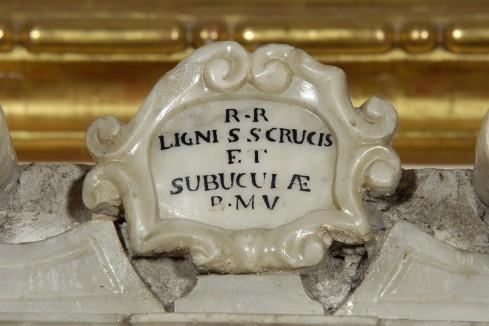 Bottega veneta sec. XVII, Cartiglio del tabernacolo dell'altare della Madonna