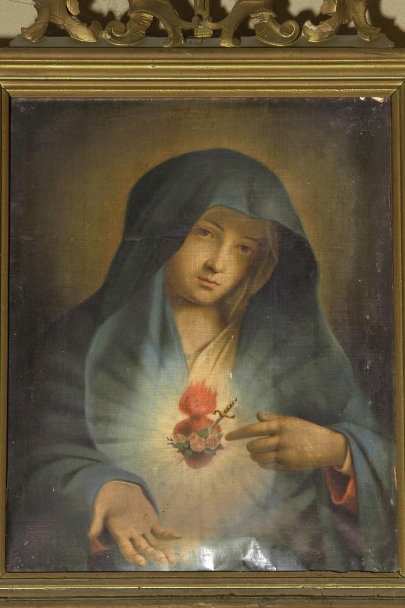 Bottega veneta sec. XIX, Cuore immacolato di Maria