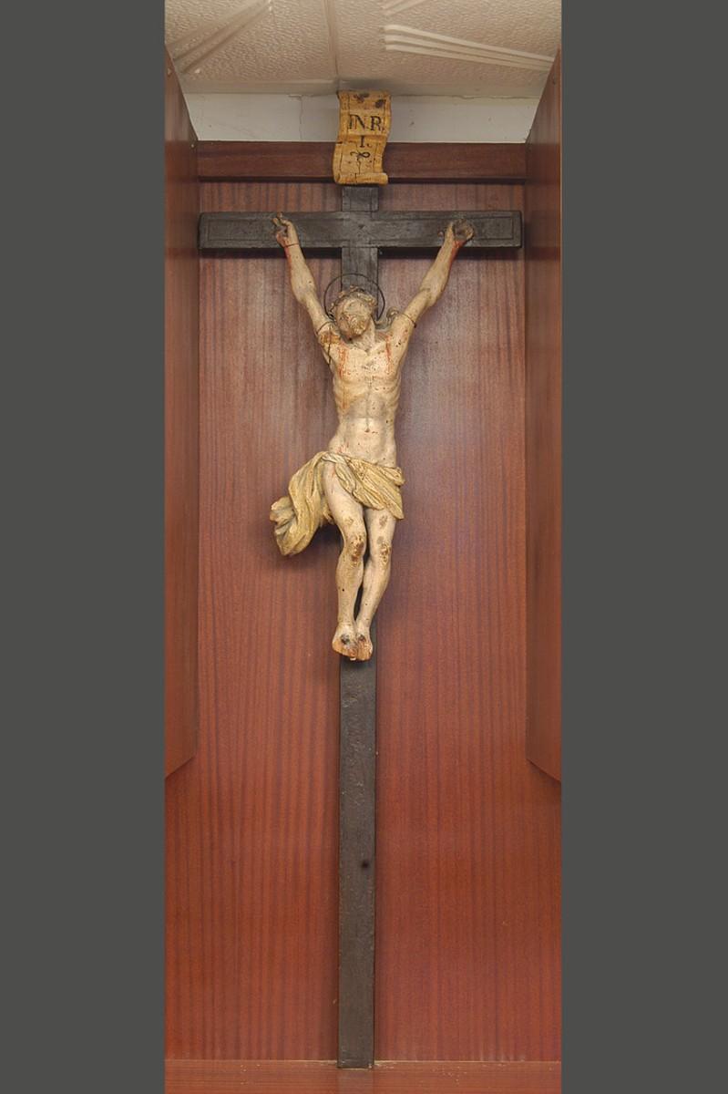 Bottega veneta primo quarto sec. XVII, Crocifisso con braccia ravvicinate