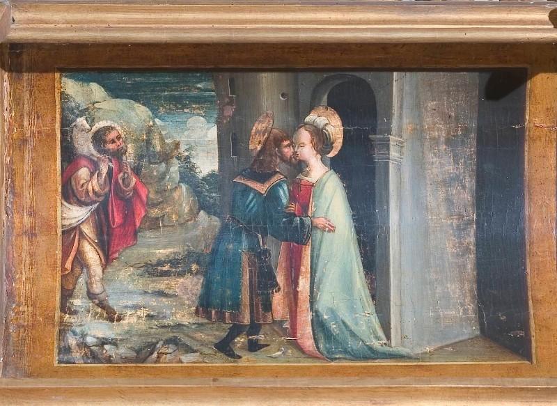 Ambito piemontese sec. XVI, Incontro di Sant'Anna e San Gioacchino