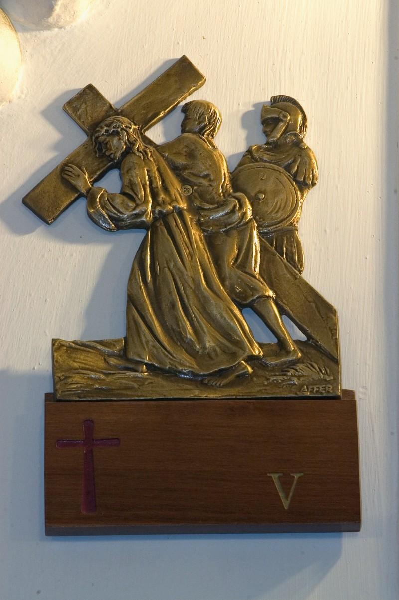 Affer seconda metà sec. XX, Gesù Cristo aiutato dal cireneo a portare la croce