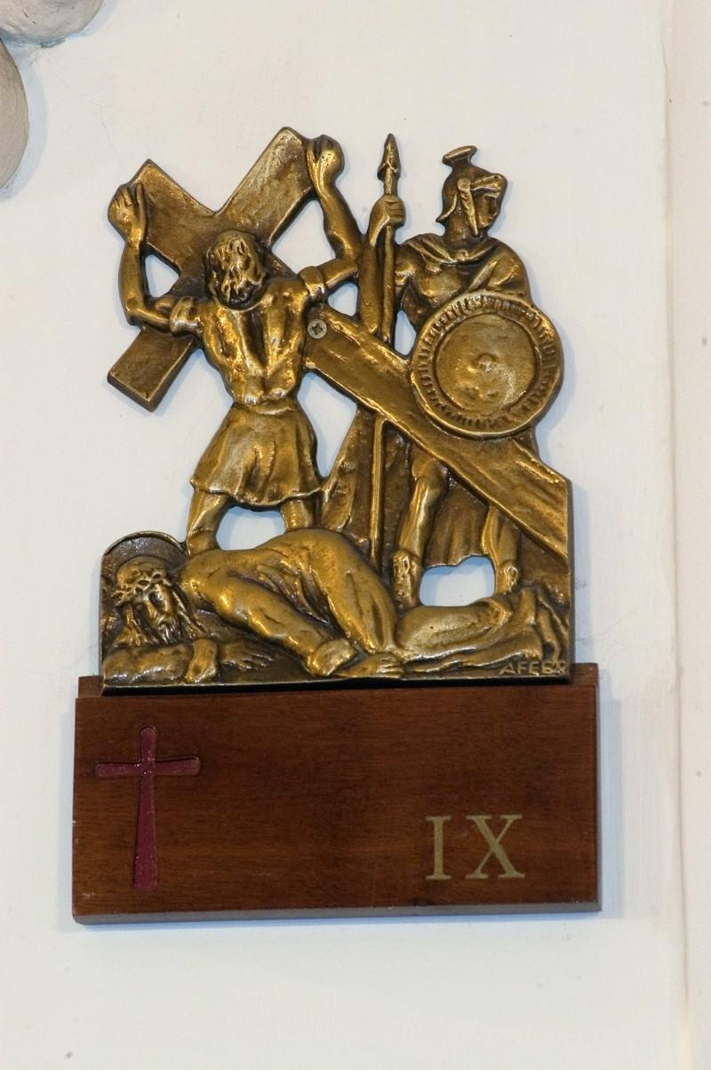 Affer seconda metà sec. XX, Gesù Cristo cade la terza volta in bronzo fuso