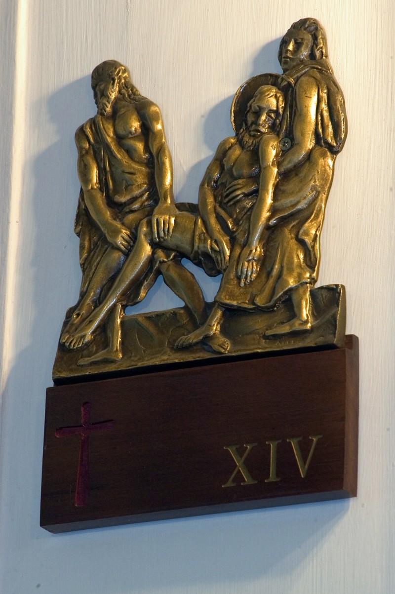 Affer seconda metà sec. XX, Gesù Cristo deposto nel sepolcro in bronzo fuso