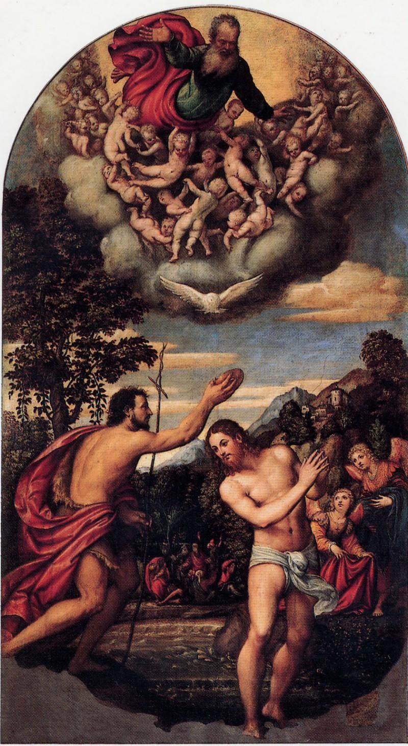 Pomponio Amalteo, Battesimo di Cristo
