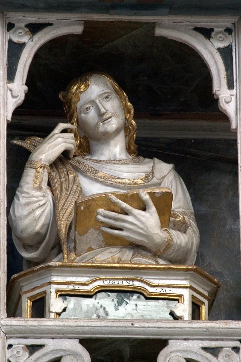 Diego da Careri secondo quarto sec. XVII, San Giustino martire in legno scolpito