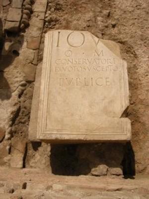 Basamento di statua dedicata a Giove, epoca romana