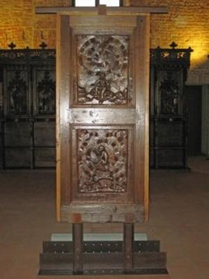 Baldino da Surso, Anta lignea con formelle, sec. XV - Restauro realizzato con i fondi 8x1000