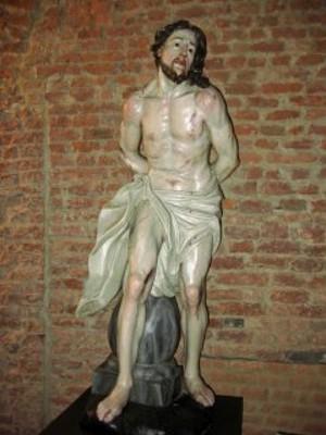 Carlo Giuseppe Plura, Cristo alla colonna, sec. XVIII - Restauro realizzato con i fondi 8x1000