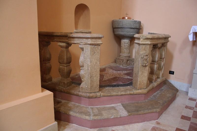 Ambito calabrese sec. XVII, Balaustra del fonte battesimale