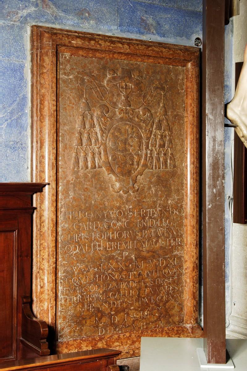 Maestranze trentine (1563), Lapide del cardinale Gerolamo Seripando