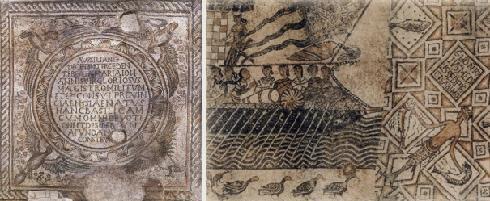 Mosaici nella cattedrale Ultima specchiatura a sinistra della navata centrale, una delle più complesse e suggestive, anche per la stratificazione che i rifacimenti dimostrano.