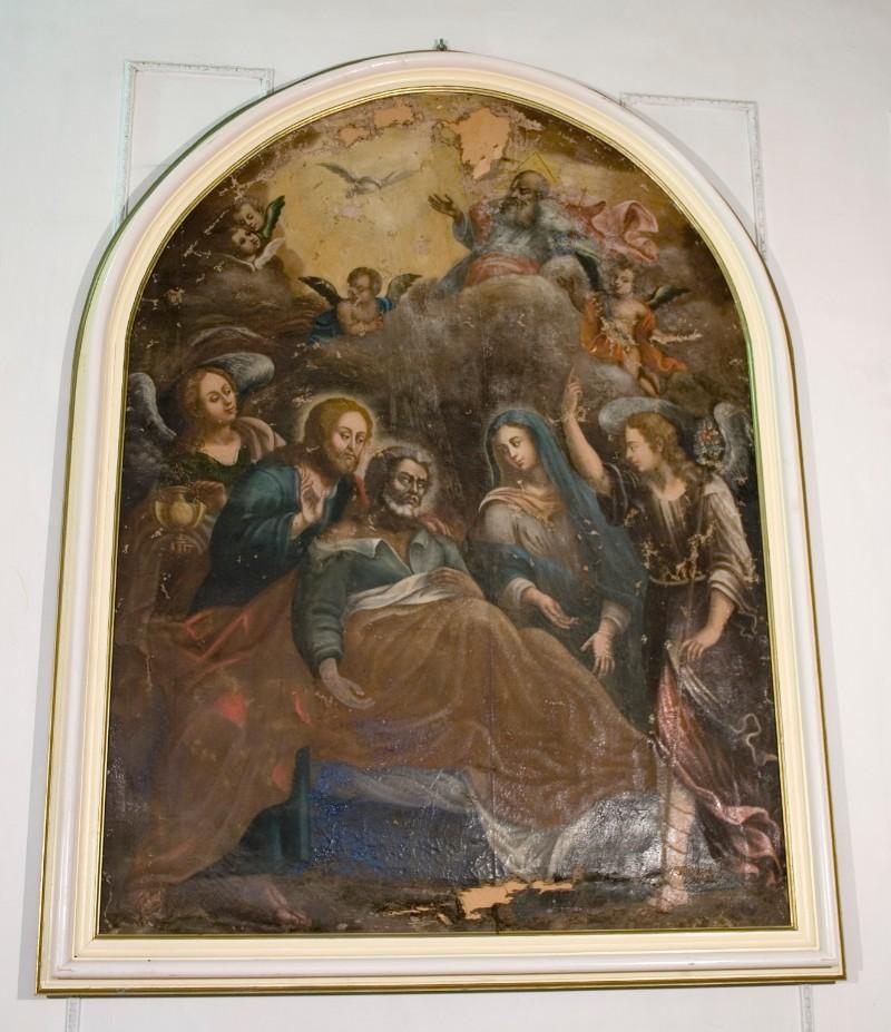 Ambito italiano sec. XVIII, Transito di San Giuseppe
