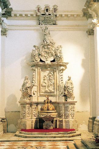 Il fonte battesimale del XVIII sec.
