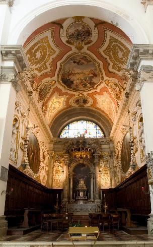 """Interno, cappella di sinistra """"dei Santi Felice e Fortunato"""""""