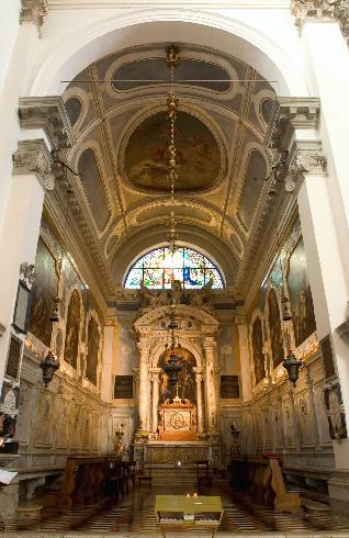 """interno, cappella di destra """"del Santissimo Sacramento"""""""
