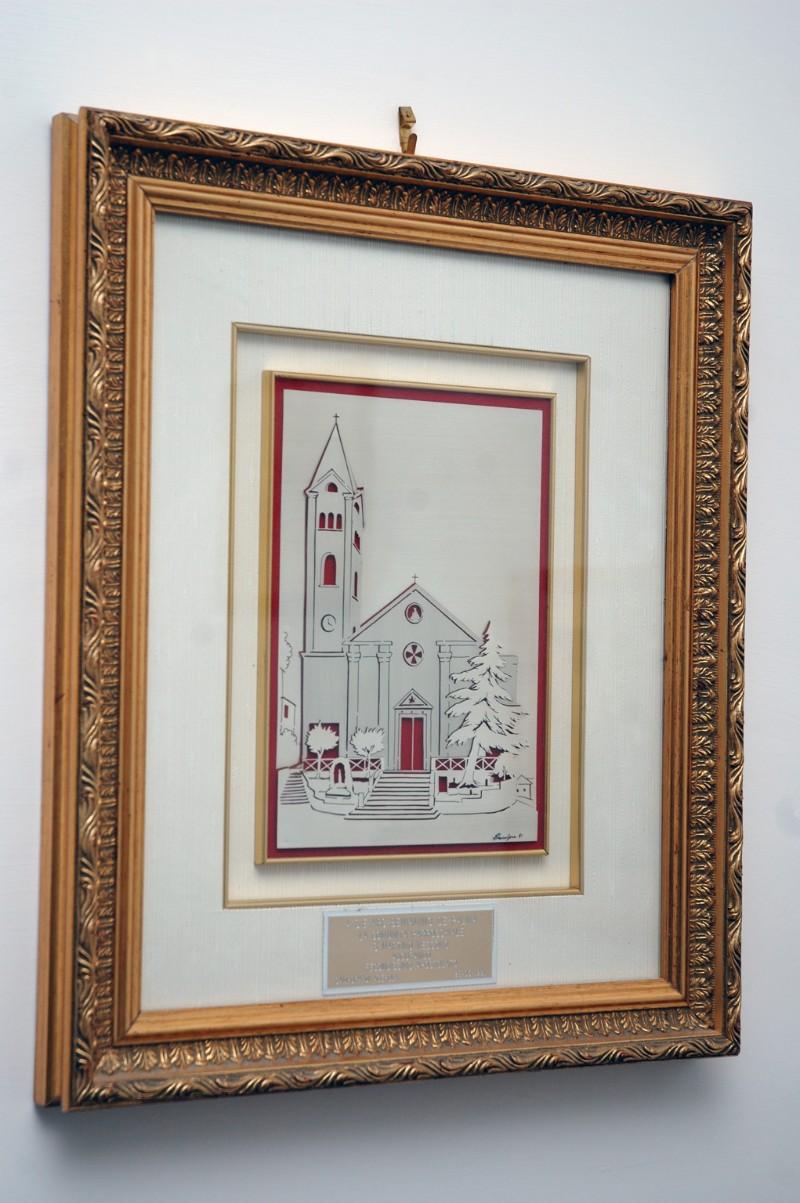 Acanfora (1991), Veduta della chiesa di San Martino ad Agerola in argento