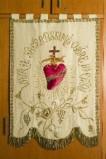 Manifattura italiana sec. XX, Gonfalone del Sacro Cuore di Gesù
