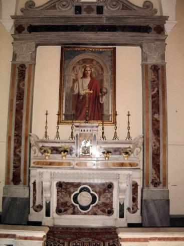 La cappella del Santissimo Sacramento