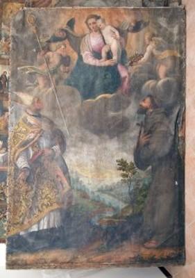 Vergine con Bambino e i Santi Benedetto di Norcia e Francesco di Assisi