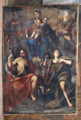 opera da restaurare: Vergine con il Bambino con i due santi Giovanni Evangelista e Giovanni Battista