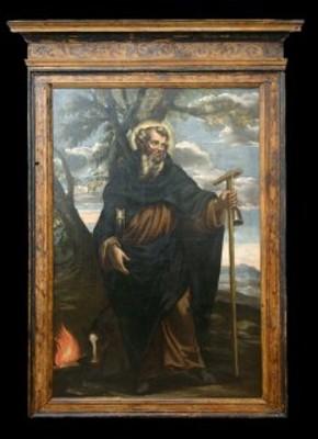 S.Antonio Abate, ignoto caravaggesco senese, sec. XVII