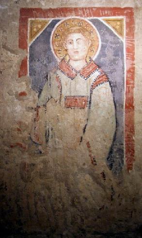 La cripta  di San Casto nella cattedrale di Trivento – Affresco -  molto probabilmente rappresentante San Lorenzo