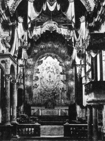 Interno della cattedrale 1926