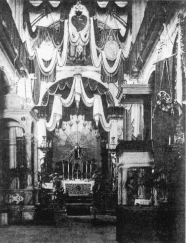 Interno della cattedrale 1927