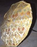 Manif. italiana sec. XX, Ombrellino processionale in tessuto broccato