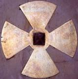 Ambito italiano sec. XX, Croce della consacrazione in metallo