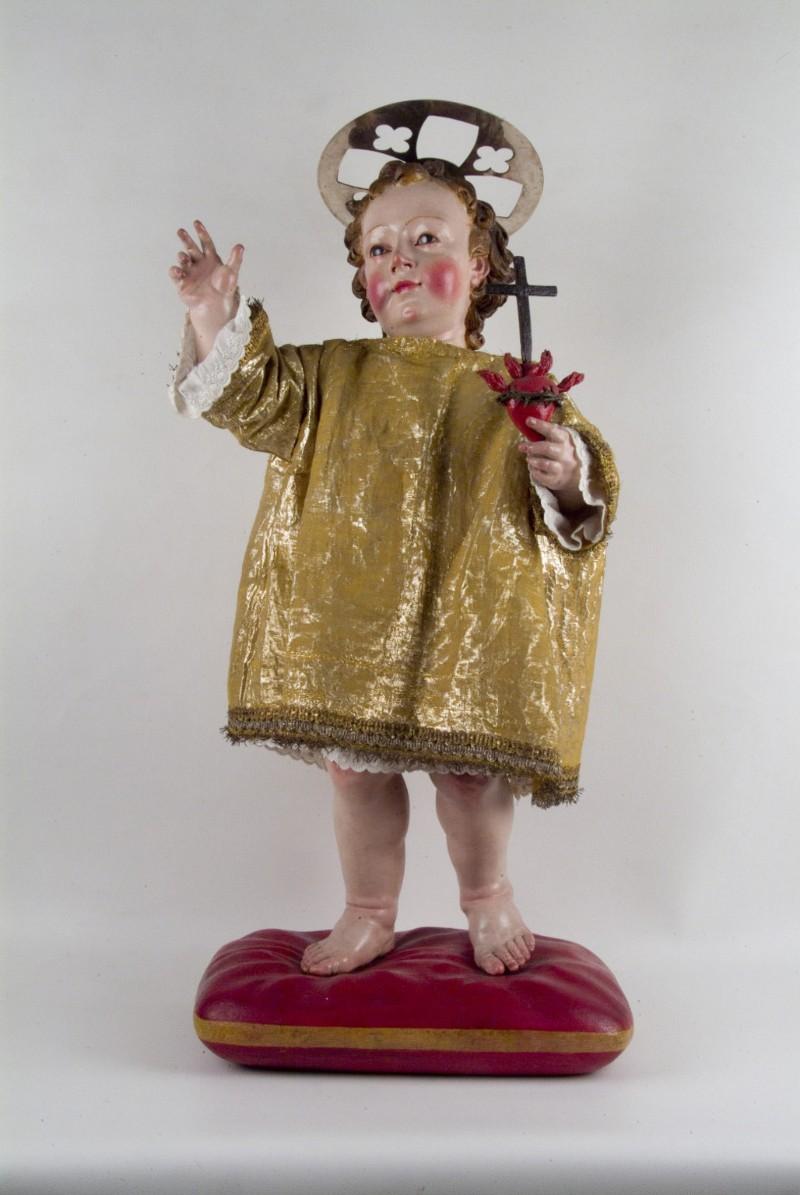 Ambito pugliese sec. XIX, Statua lignea di Gesù Bambino - 2875698 - it