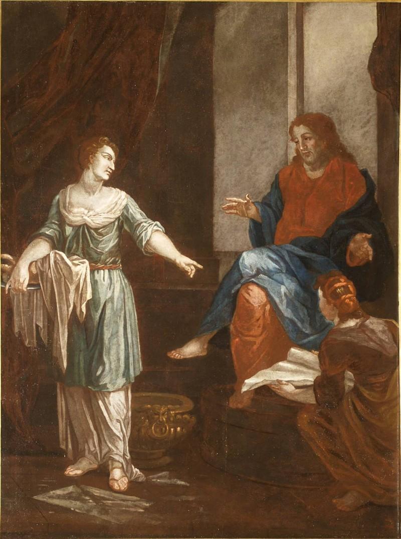 Ambito piemontese sec. XIX-XX, Gesù Cristo a Betania con Marta e Maria