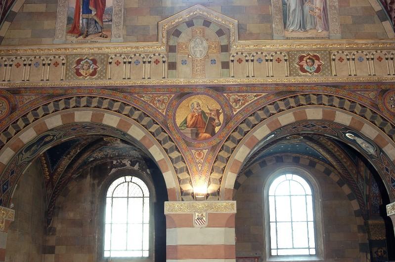 Morgari L. - Secchi A. (1896-1897), San Luca in clipeo e motivi decorativi