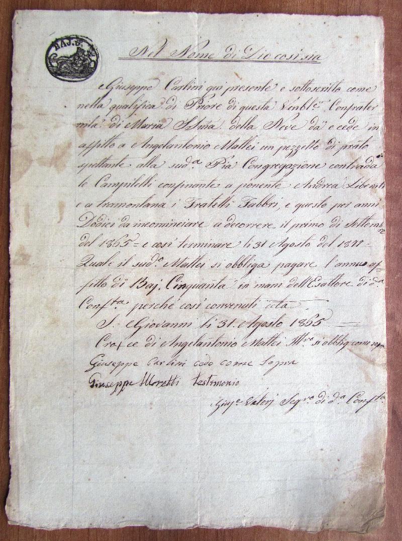 Fondo della Confraternita della Madonna della Neve <Villa San Giovanni,  Blera>