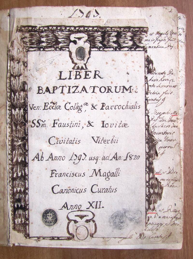 Fondo della parrocchia dei SS. Faustino e Giovita <Viterbo>
