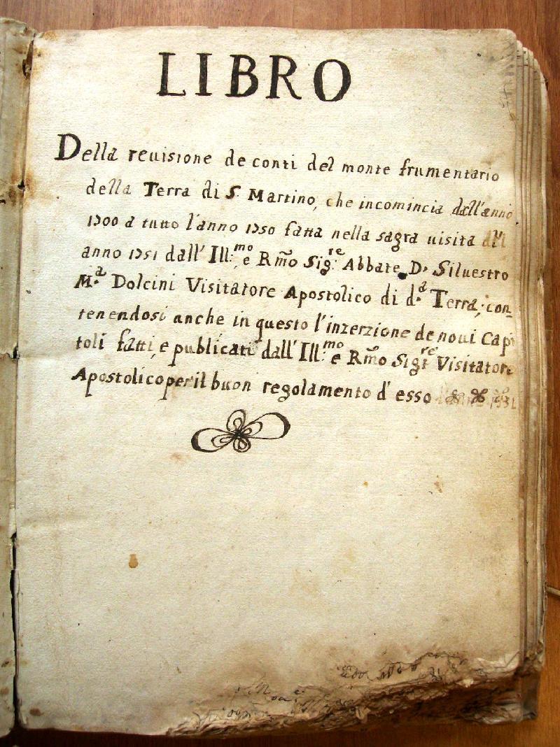 Fondo della Curia dell'Abbazia di San Martino Martire <San Martino al Cimino>