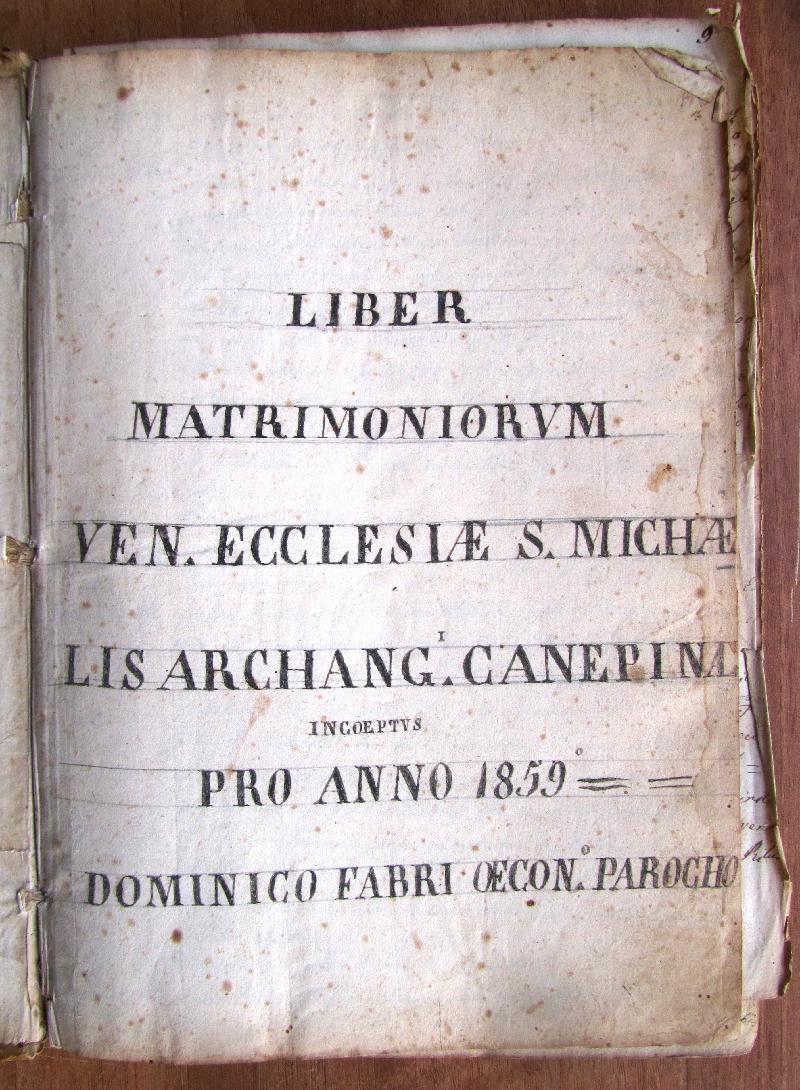 Fondo della parrocchia di S. Michele Arcangelo <Canepina>