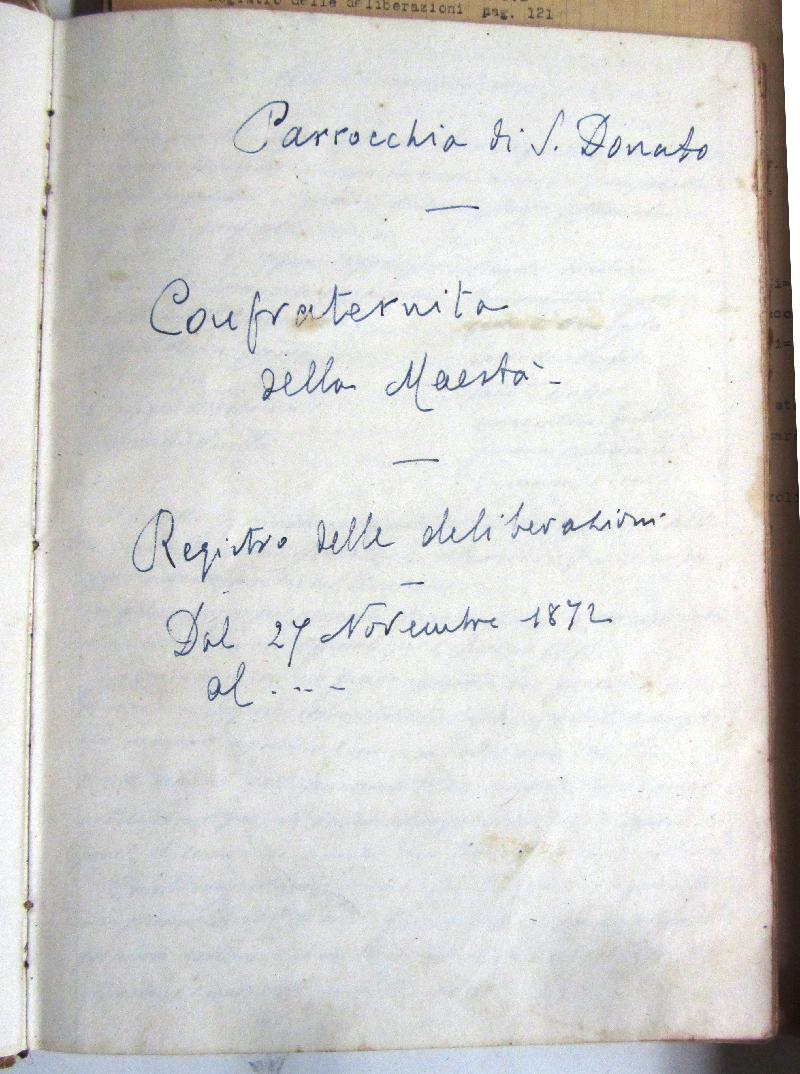 Fondo della Compagnia della Maestà in S. Donato a Civita di Bagnoregio <Civita di Bagnoregio, Bagnoregio>