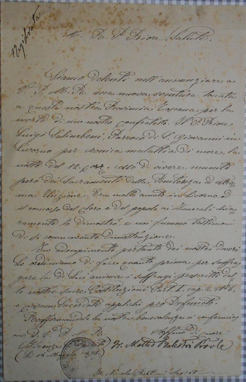 Fondo del convento di San Giovanni Battista <Livorno>