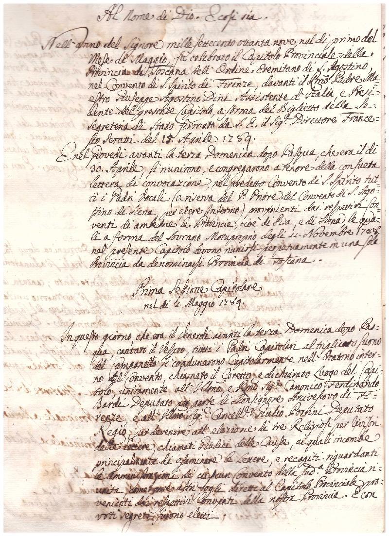 Fondo della Provincia agostiniana di Toscana