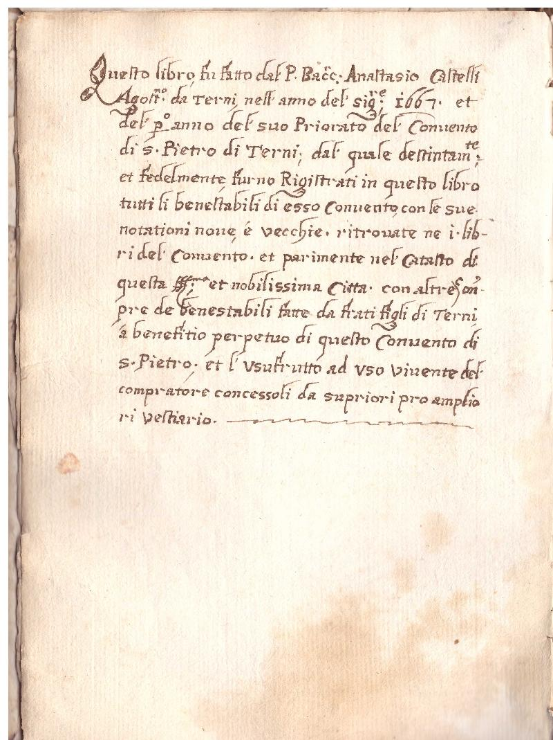Fondo del convento di S. Pietro <Terni>