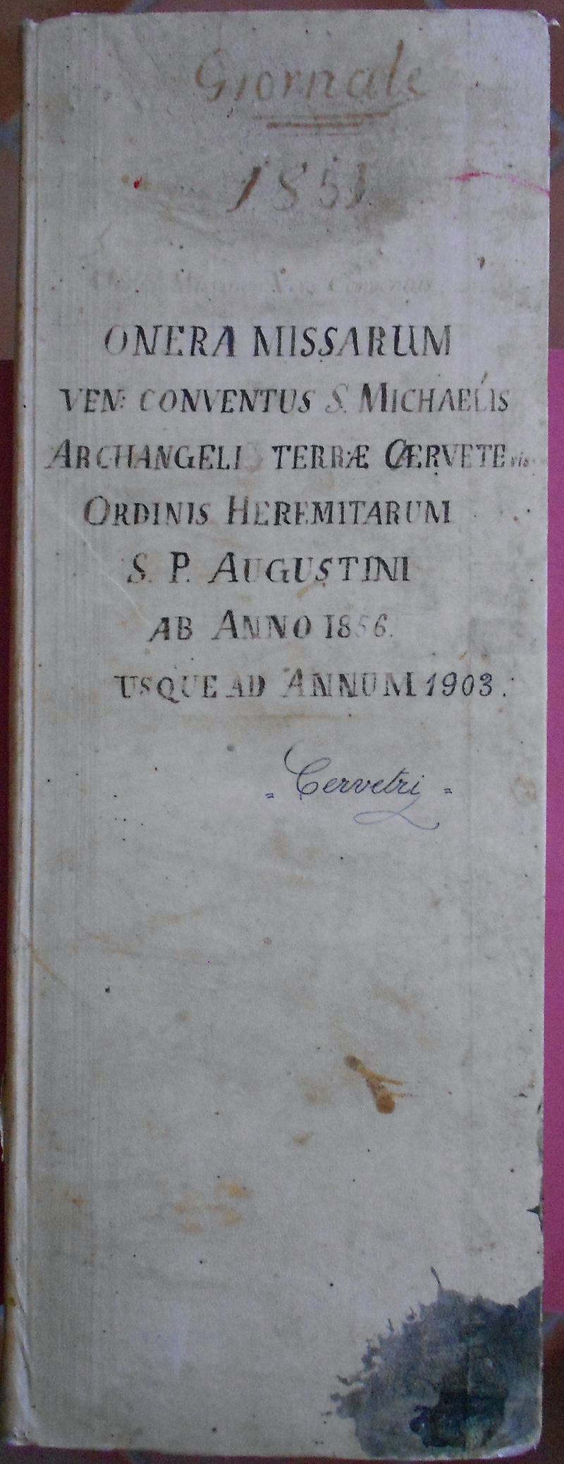 Fondo del convento di San Michele Arcangelo <Cerveteri>