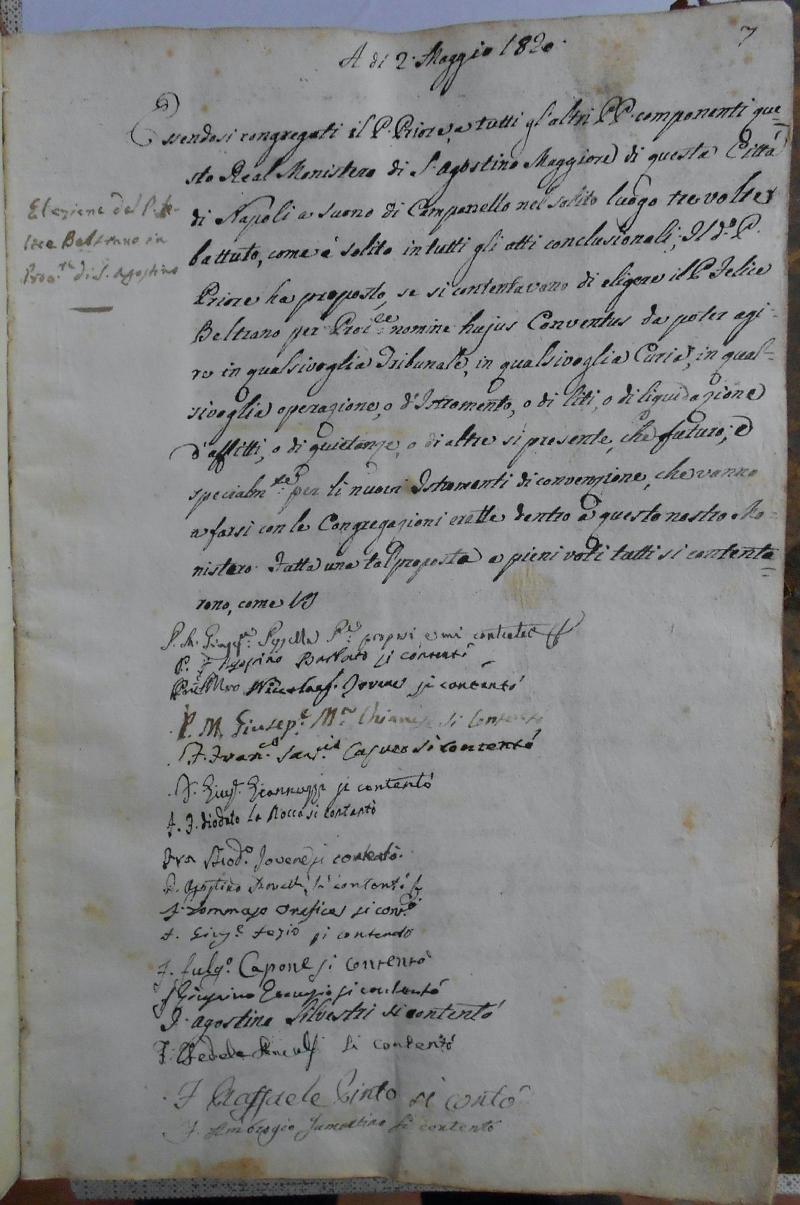 Fondo del convento di Sant'Agostino Maggiore alla Zecca <Napoli>